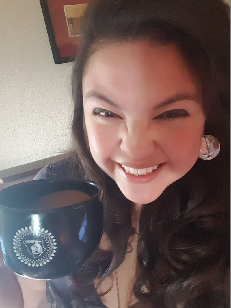 March 2016 Happy with Blackfeet Coffee